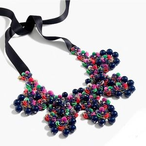 New J. Crew Garden statement bib necklace